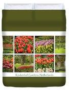 Keukenhof Garden Collage Duvet Cover