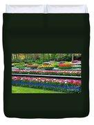 Keukenhof Tulips Ornamental Garden  Duvet Cover