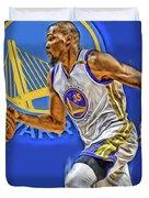 Kevin Durant Golden State Warriors Oil Art Duvet Cover