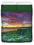 Key Biscayne Sunset Duvet Cover