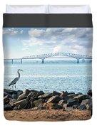 Key Bridge From Ft Smallwood Pk Duvet Cover