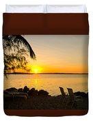 Key Largo Sunrise Duvet Cover