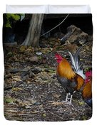 Key West Chickens Duvet Cover