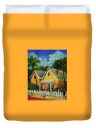 Key West Cottage Duvet Cover