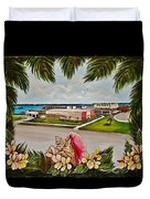 Key West High School From The 60's Era Duvet Cover