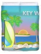 Key West Horizontal Scene Duvet Cover