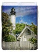 Key West Lighthouse Dsc01547_16 Duvet Cover