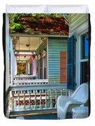 Key West Porches Duvet Cover