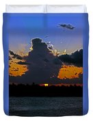 Key West Sunset Glory Duvet Cover