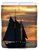 Key West Sunset Sail 6 Duvet Cover