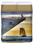 Key West Sunset Sail Duvet Cover