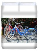 Key West Vintage Bicycles Duvet Cover
