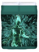Keyed To The Matrix Duvet Cover