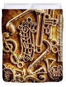 Keys Of A Symphonic Orchestra Duvet Cover