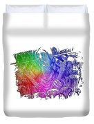 Keys To The City Cool Rainbow 3 Dimensional Duvet Cover