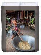 Khmer Girl Makes Sugar Cane Candy Duvet Cover