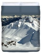 Kicking Horse Endless Extreme Skiing Duvet Cover