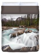 Kicking Horse River Cascades Duvet Cover