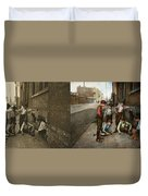 Kids - Cincinnati Oh - A Shady Game 1908 - Side By Side Duvet Cover