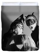 Kids In Halloween Costumes Duvet Cover