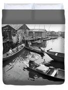 Waterways And Canoes Duvet Cover