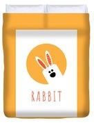 Kids Rabbit Poster Duvet Cover