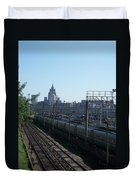 Moscow Kievskaya Train Yard Duvet Cover