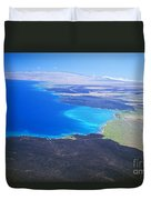 Kiholo Bay, Aerial View Duvet Cover