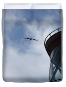 Kilauea Lighthouse And Bird Duvet Cover