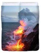 Kilauea Volcano Lava Flow Sea Entry 3- The Big Island Hawaii Duvet Cover