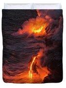 Kilauea Volcano Lava Flow Sea Entry - The Big Island Hawaii Duvet Cover