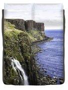 Kilt Rock On The Isle Of Skye Duvet Cover