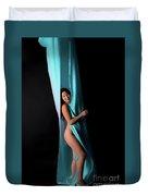 Kim In Blue Duvet Cover