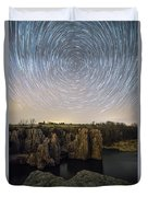 King And Queen Star Trails Duvet Cover