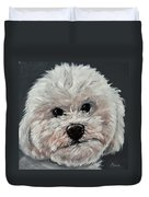 King Cavalier And Toy Poodle Mix Duvet Cover