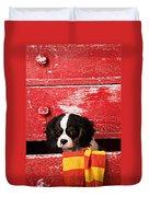 King Charles Cavalier Puppy  Duvet Cover