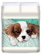 Spaniel Puppy Resting Duvet Cover