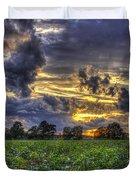 King Cotton Sunset Art Statesboro Georgia Duvet Cover