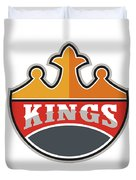 King Crown Kings Retro Duvet Cover