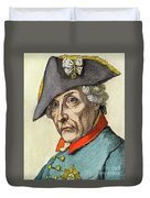 King Frederick II Of Prussia Duvet Cover