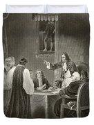 King James II Of England Facing Bishops Duvet Cover