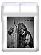 King Kong Selfie B W  Duvet Cover