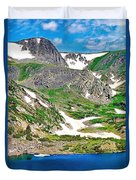King Lake At Rollins Pass T Duvet Cover