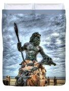 King Neptune Virginia Beach  Duvet Cover