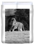 King Of Beasts Black And White Duvet Cover