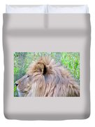 King Of The Jungle Profile  Duvet Cover
