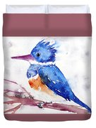 Kingfisher On A Stick Duvet Cover