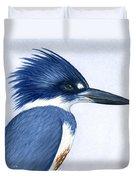 Kingfisher Portrait Duvet Cover