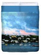 King's Wharf Bermuda Harbor Sunrise Duvet Cover