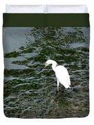 Kingston Jamaica Egret Duvet Cover